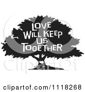 Clipart of a Black and White Family Reunion Tree and Uplifted.