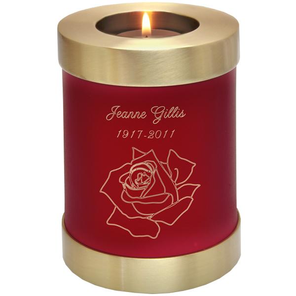 Candle Holder Memorial Urn Keepsake.