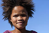 "Stock Photo of ""Local girl, portrait, Keetmanshoop, Namibia."