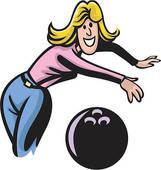 Le Bowling : Images de joueuses.