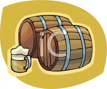 Beer Keg Flags Clipart.