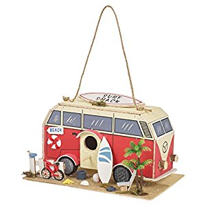Bird House ~ Caravan/Beach/Campervan/Surfing Theme ~ Wooden.