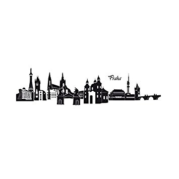 Amazon.com: 2016 NEW Famous Building Prague Wall Sticker Vinyl.