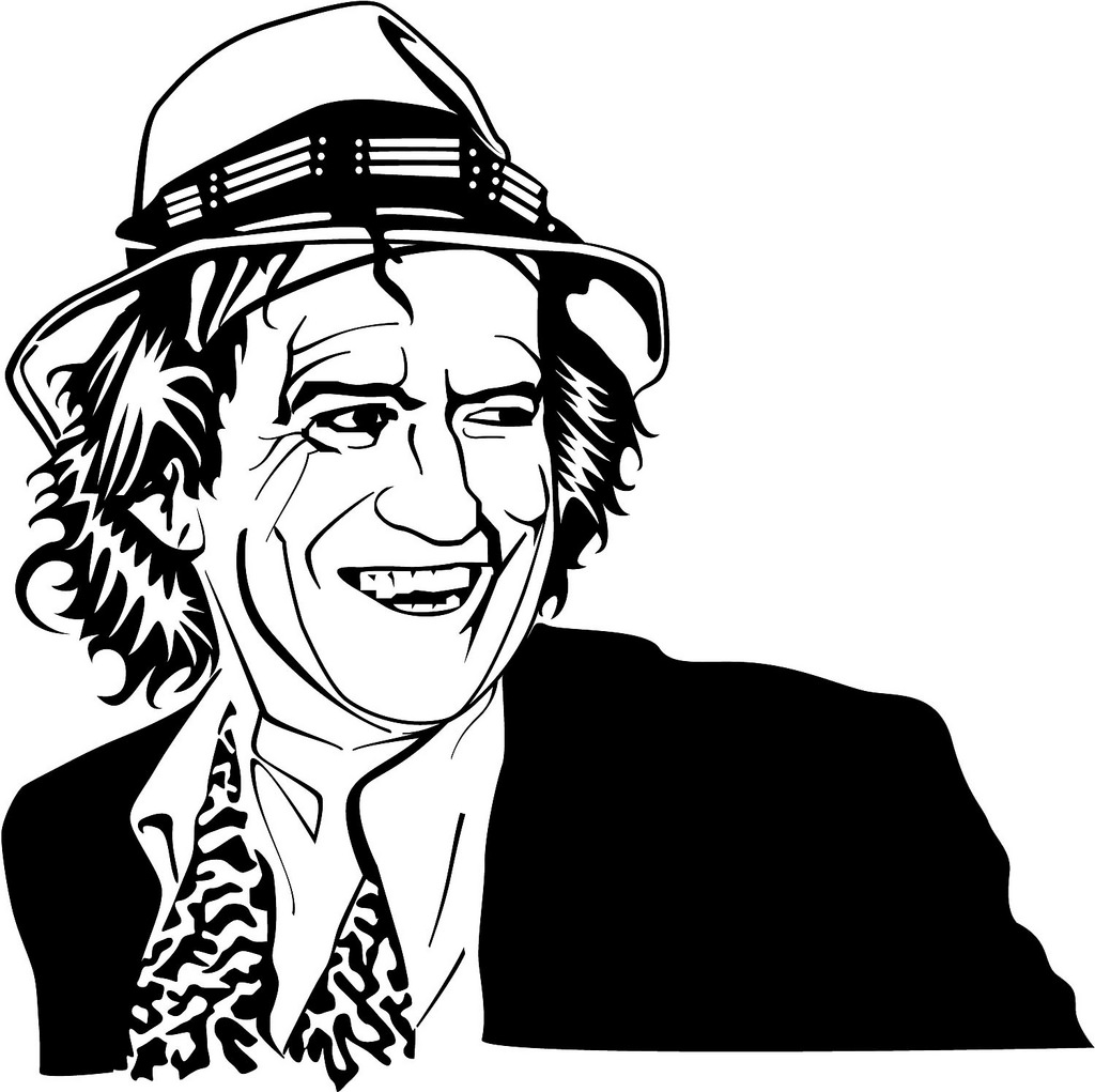 Keith Richards Clipart.
