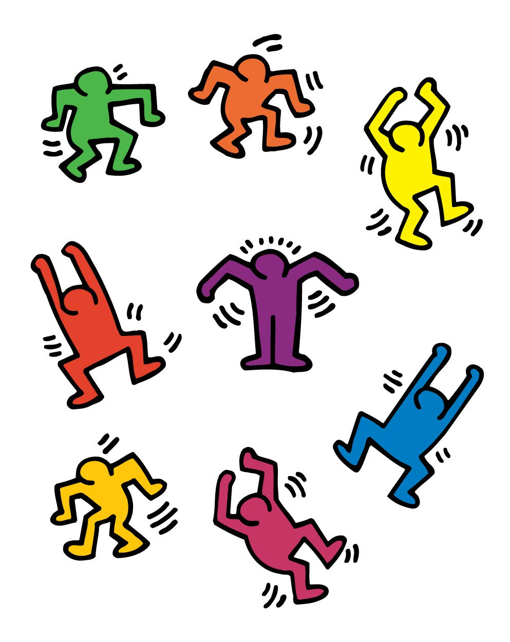 BLIK Keith Haring Dancers Removable Wall Decals.