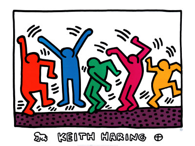 18+ Keith Haring Clipart.
