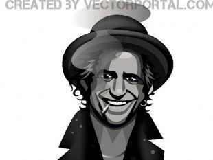 Keith Richards Portrait.