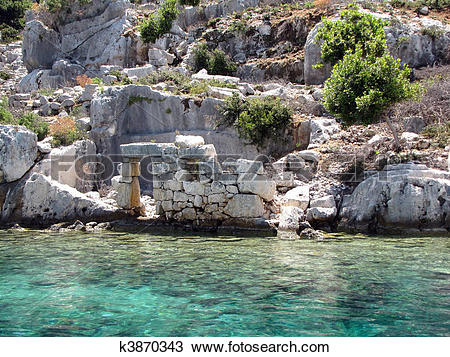 Stock Photo of Sunken City Kekova k3870343.