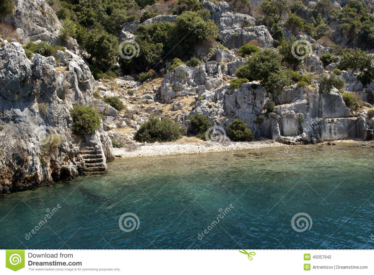 Sunken City, Kekova, Turkey, Scene 11 Stock Photo.