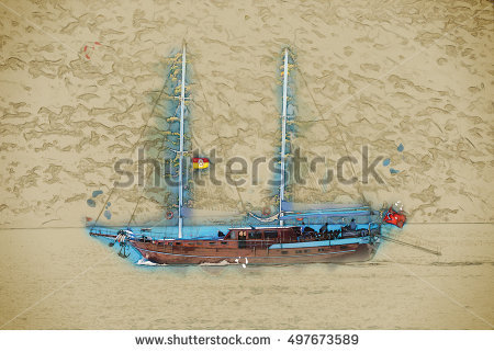 Boat Coast From Turkish Stock Photos, Royalty.