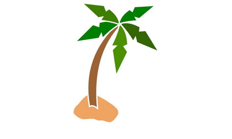 Pokok kelapa clipart.