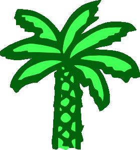 Cartoon Green Palm Tree Clip Art at Clker.com.