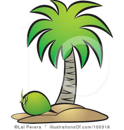Palm Tree Coconut Clipart.