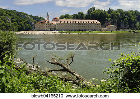 Stock Photography of Weltenburg Abbey by the river Danube, Kelheim.