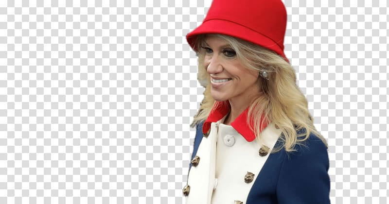 Woman wearing white and blue suit, Kellyanne Conway Coloured.