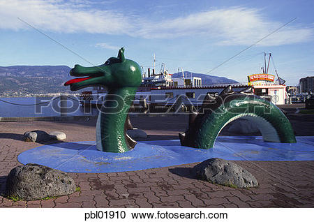 Stock Photography of Ogopogo (lake manster, Kelowna, B.C. Canada.