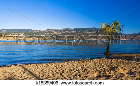 Stock Images of Kelowna City Beach k18359406.