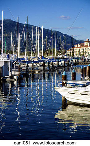 Stock Photography of Pleasure Boats in Marina Kelowna Canada can.