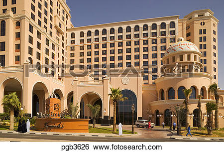 Stock Images of Mall of the Emirates and Kempinski Hotel. Dubai.