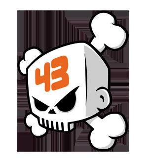 logo Ken Block #43 en 2019.