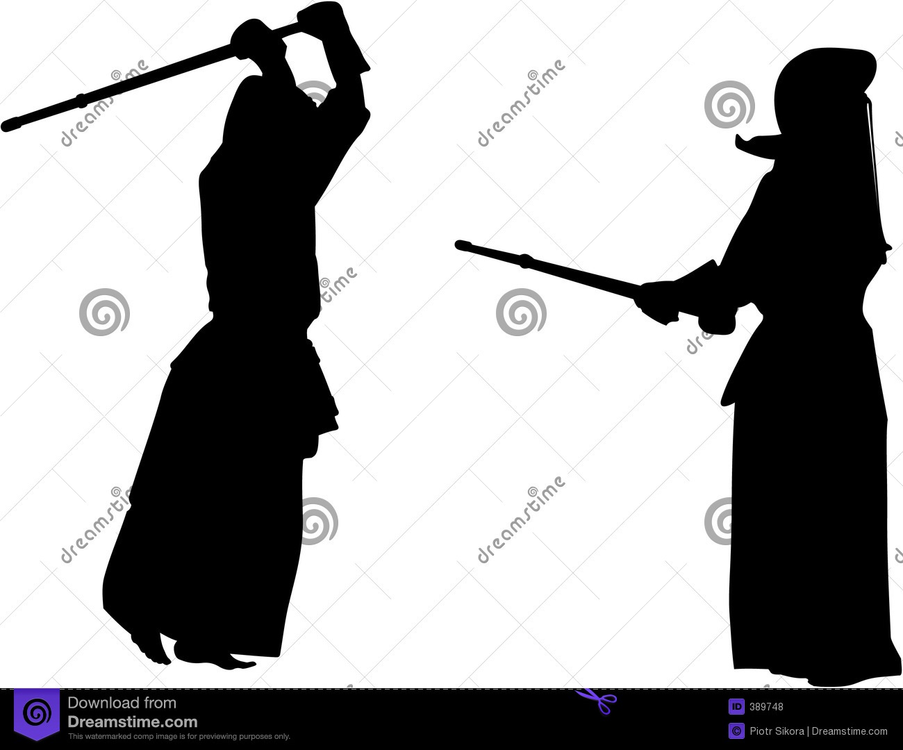 Kendo Stock Illustrations.