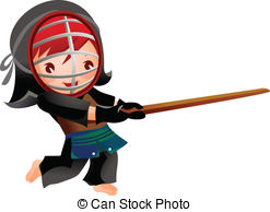 Stock Illustration of kendo.