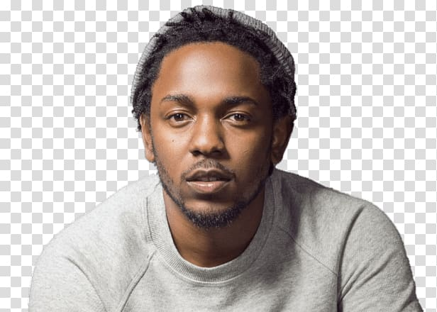 Men\'s gray top, Kendrick Lamar Portrait transparent.