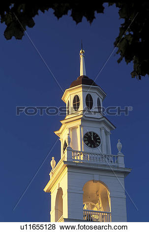 Pictures of Kennebunk, ME, Maine, Steeple of the First Parish.