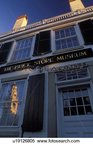 Stock Image of Kennebunk, ME, Maine, The Brick Store Museum in.