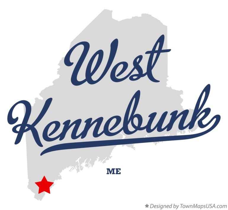 Map of West Kennebunk, ME, Maine.