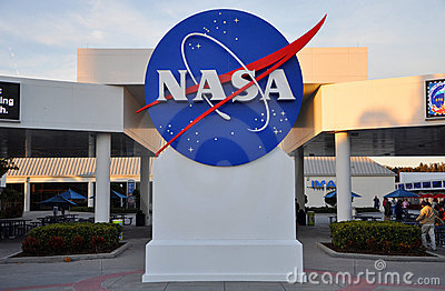 Nasa Sign At The Kennedy Space Center In Florida Editorial Image.