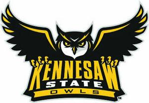 Details about KSU Kennesaw State Owls Large Logo Cornhole Decals / Set of 2.