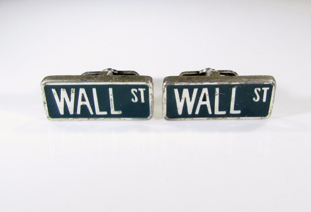 Vintage Wall Street Cufflinks by Kenneth Cole #KennethCole.