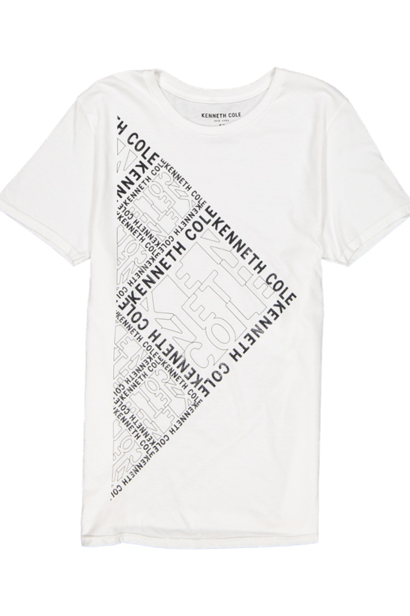 Shop Kenneth Cole Men\'s Square Space Logo Graphic Tee, White.