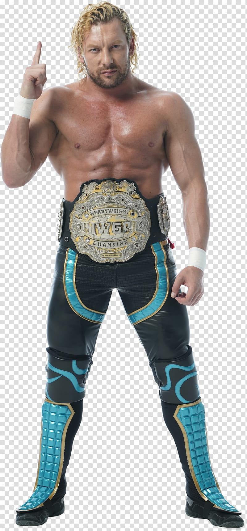 Kenny Omega IWGP Heavyweight Champion transparent background.