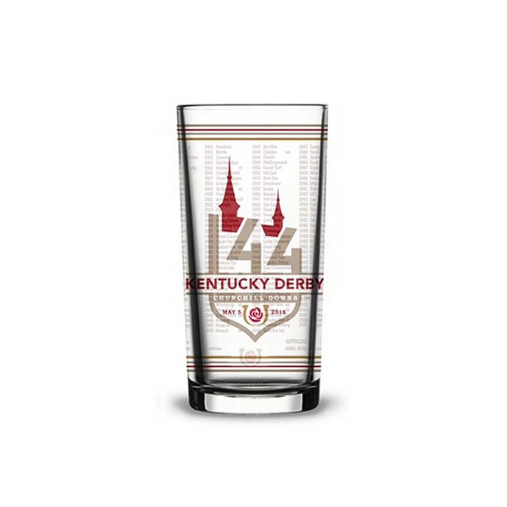 2018 Official 144th Kentucky Derby Mint Julep Glass.