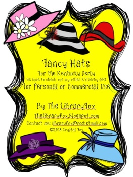 Derby Hats for the Kentucky Derby Matches KY Derby Clip Art Set.
