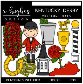 Kentucky Derby Clipart {A Hughes Design}.