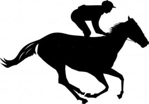 Kentucky Derby Horse Silhouette.
