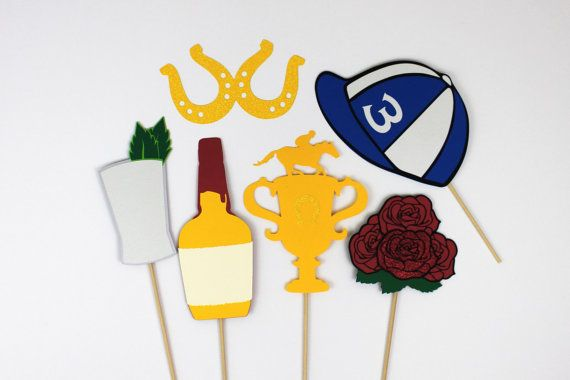 Kentucky Derby Photo Booth Props.