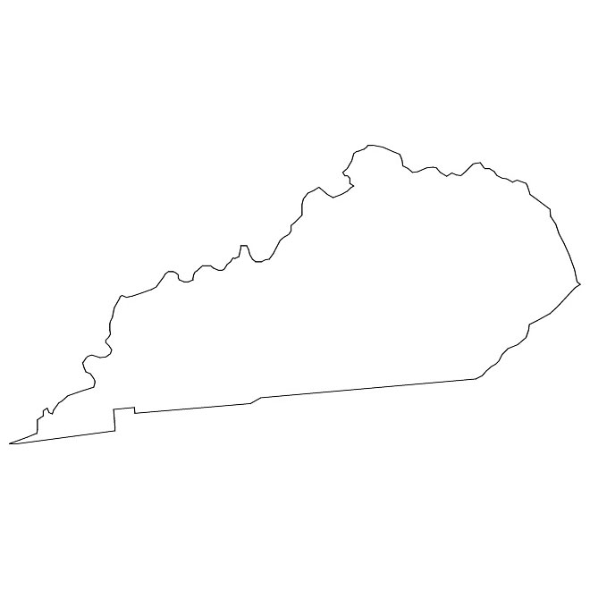 Kentucky Outline Clipart