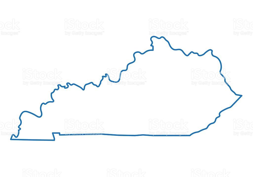 Abstract Outline Of Kentucky Map stock vector art 585522522.