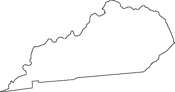 Kentucky Outline Clip Art at Clker.com.