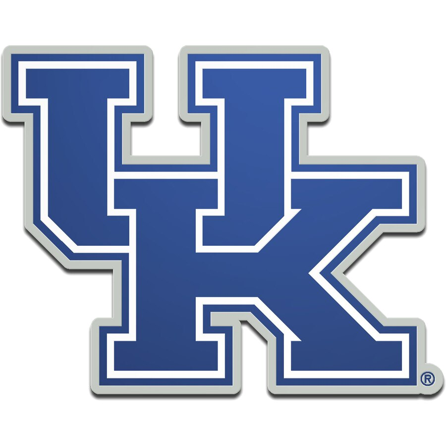 Kentucky Wildcats Metallic Freeform Logo Auto Emblem.