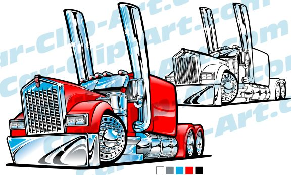 Collection of Kenworth clipart.