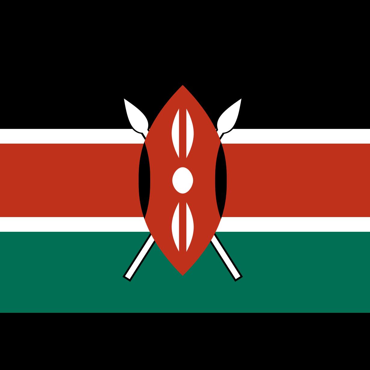 Kenya Flag Clipart.