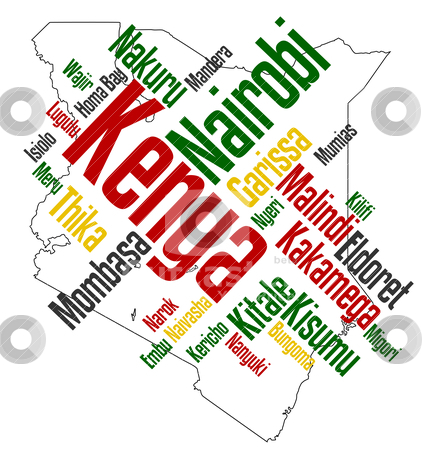 Kenya map and cities » Clipart Station.
