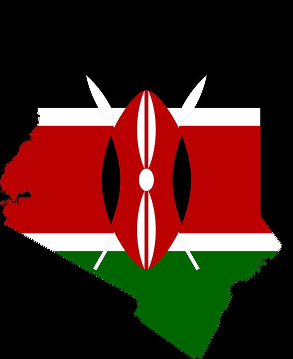 Kenya Flag Map.