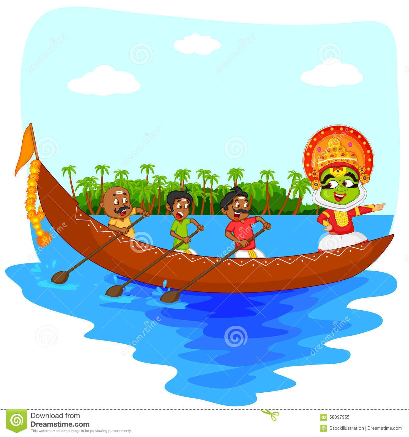 Kerala boat clipart.
