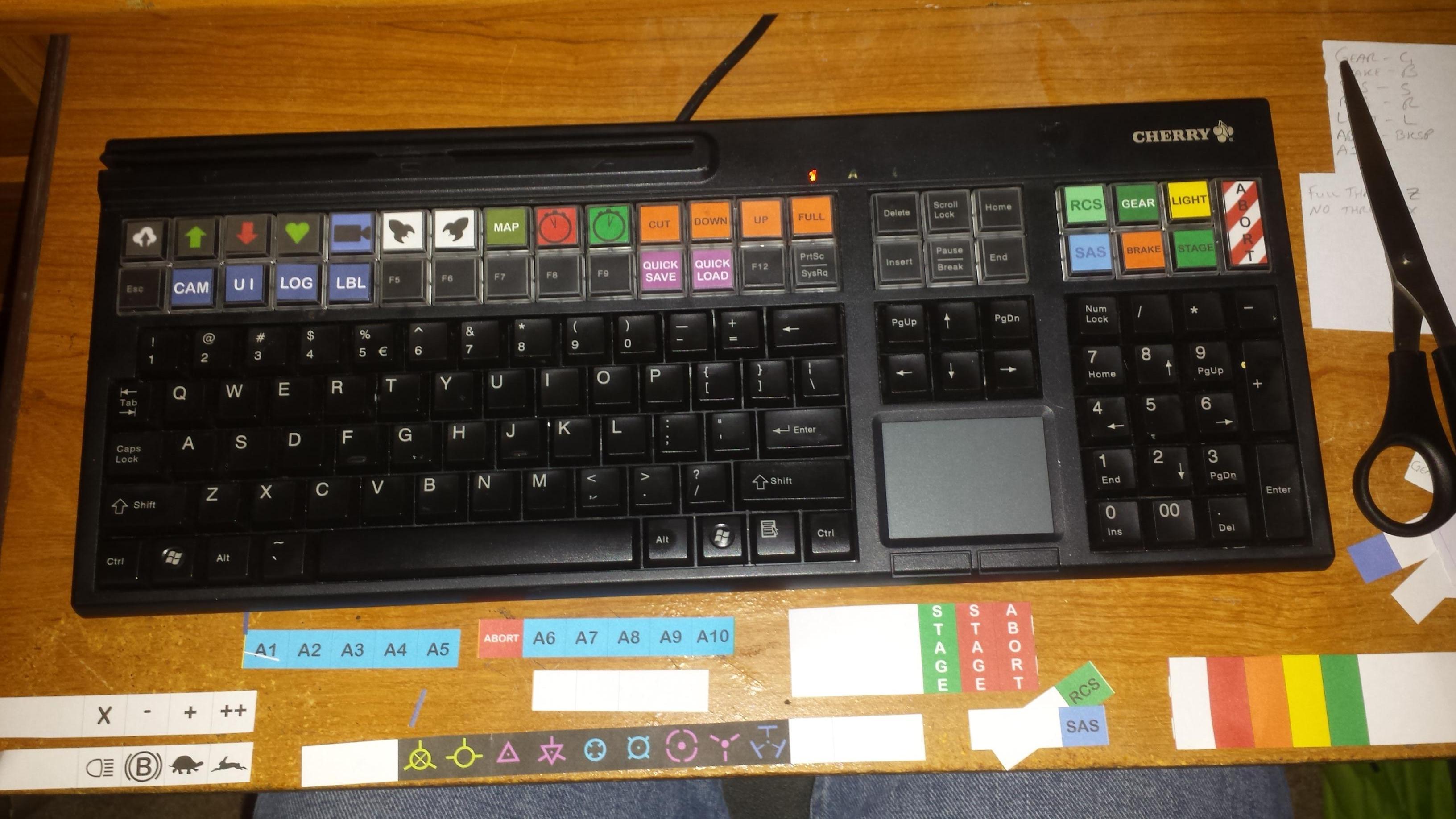 Kerbal Space Program Keyboard.